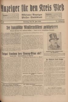 Anzeiger für den Kreis Pleß : Nikolaier Anzeiger : Plesser Stadtblatt. Jg.78, Nr. 90 (28 Juli 1929)