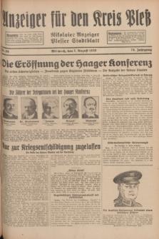Anzeiger für den Kreis Pleß : Nikolaier Anzeiger : Plesser Stadtblatt. Jg.78, Nr. 94 (7 August 1929)