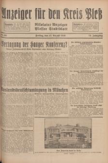 Anzeiger für den Kreis Pleß : Nikolaier Anzeiger : Plesser Stadtblatt. Jg.78, Nr. 101 (23 August 1929)