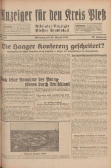 Anzeiger für den Kreis Pleß : Nikolaier Anzeiger : Plesser Stadtblatt. Jg.78, Nr. 103 (28 August 1929)
