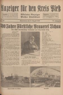 Anzeiger für den Kreis Pleß : Nikolaier Anzeiger : Plesser Stadtblatt. Jg.78, Nr. 105 (31 August 1929)