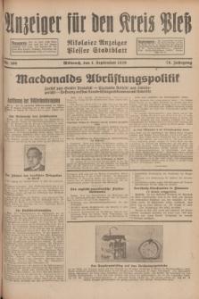 Anzeiger für den Kreis Pleß : Nikolaier Anzeiger : Plesser Stadtblatt. Jg.78, Nr. 106 (4 September 1929)