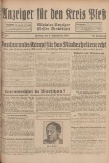 Anzeiger für den Kreis Pleß : Nikolaier Anzeiger : Plesser Stadtblatt. Jg.78, Nr. 107 (6 September 1929)