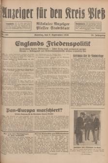 Anzeiger für den Kreis Pleß : Nikolaier Anzeiger : Plesser Stadtblatt. Jg.78, Nr. 108 (8 September 1929)
