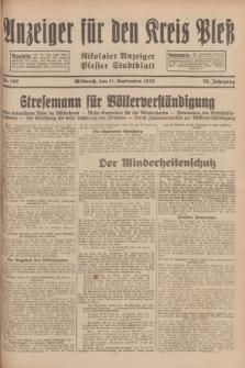 Anzeiger für den Kreis Pleß : Nikolaier Anzeiger : Plesser Stadtblatt. Jg.78, Nr. 109 (11 September 1929)