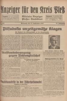 Anzeiger für den Kreis Pleß : Nikolaier Anzeiger : Plesser Stadtblatt. Jg.78, Nr. 115 (25 September 1929)