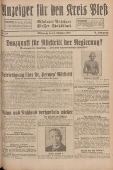 Anzeiger für den Kreis Pleß : Nikolaier Anzeiger : Plesser Stadtblatt. Jg.78, Nr. 118 (2 October 1929)