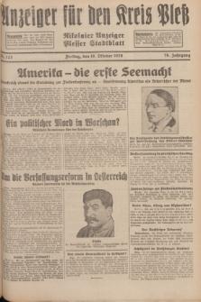 Anzeiger für den Kreis Pleß : Nikolaier Anzeiger : Plesser Stadtblatt. Jg.78, Nr. 125 (18 October 1929)