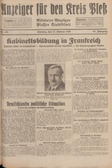 Anzeiger für den Kreis Pleß : Nikolaier Anzeiger : Plesser Stadtblatt. Jg.78, Nr. 129 (27 October 1929)