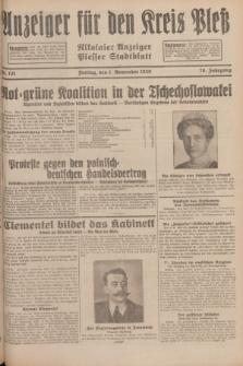 Anzeiger für den Kreis Pleß : Nikolaier Anzeiger : Plesser Stadtblatt. Jg.78, Nr. 131 (1 November 1929)