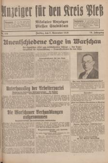Anzeiger für den Kreis Pleß : Nikolaier Anzeiger : Plesser Stadtblatt. Jg.78, Nr. 134 (8 November 1929)
