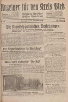 Anzeiger für den Kreis Pleß : Nikolaier Anzeiger : Plesser Stadtblatt. Jg.78, Nr. 138 (17 November 1929)