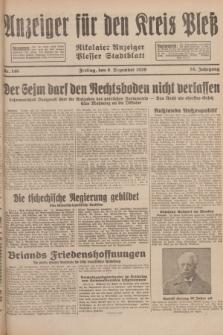 Anzeiger für den Kreis Pleß : Nikolaier Anzeiger : Plesser Stadtblatt. Jg.78, Nr. 146 (6 December 1929)