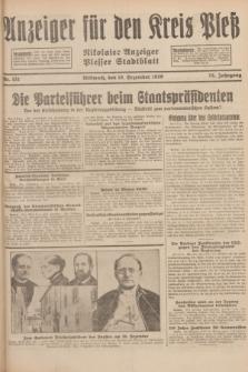 Anzeiger für den Kreis Pleß : Nikolaier Anzeiger : Plesser Stadtblatt. Jg.78, Nr. 151 (18 Dezember 1929)