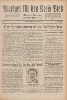 Anzeiger für den Kreis Pleß : Nikolaier Anzeiger : Plesser Stadtblatt. Jg.79, Nr. 6 (12 Januar 1930)