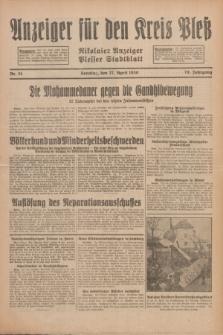 Anzeiger für den Kreis Pleß : Nikolaier Anzeiger : Plesser Stadtblatt. Jg.79, Nr. 51 (27 April 1930)