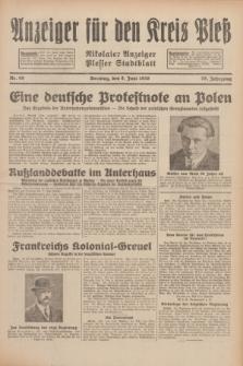 Anzeiger für den Kreis Pleß : Nikolaier Anzeiger : Plesser Stadtblatt. Jg.79, Nr. 69 (8 Juni 1930)