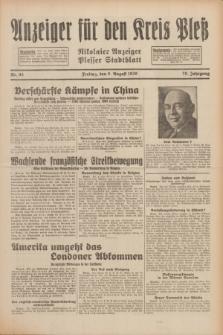 Anzeiger für den Kreis Pleß : Nikolaier Anzeiger : Plesser Stadtblatt. Jg.79, Nr. 95 (8 August 1930)