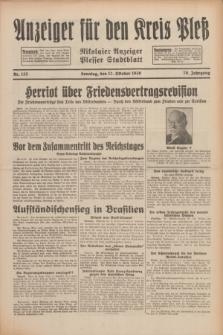 Anzeiger für den Kreis Pleß : Nikolaier Anzeiger : Plesser Stadtblatt. Jg.79, Nr. 123 (12 Oktober 1930)