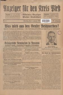 Anzeiger für den Kreis Pleß : Nikolaier Anzeiger : Plesser Stadtblatt. Jg.80, Nr. 2 (4 Januar 1931)