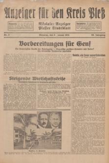 Anzeiger für den Kreis Pleß : Nikolaier Anzeiger : Plesser Stadtblatt. Jg.80, Nr. 3 (6 Januar 1931)