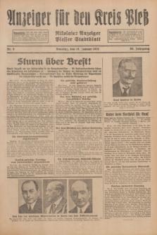 Anzeiger für den Kreis Pleß : Nikolaier Anzeiger : Plesser Stadtblatt. Jg.80, Nr. 8 (18 Januar 1931)
