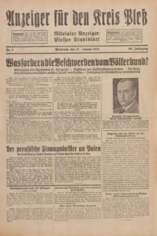Anzeiger für den Kreis Pleß : Nikolaier Anzeiger : Plesser Stadtblatt. Jg.80, Nr. 9 (21 Januar 1931)