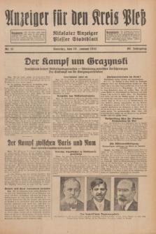 Anzeiger für den Kreis Pleß : Nikolaier Anzeiger : Plesser Stadtblatt. Jg.80, Nr. 11 (25 Januar 1931)