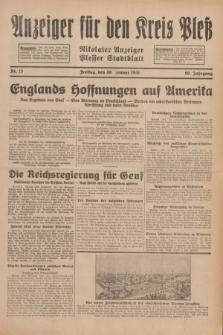 Anzeiger für den Kreis Pleß : Nikolaier Anzeiger : Plesser Stadtblatt. Jg.80, Nr. 13 (30 Januar 1931)