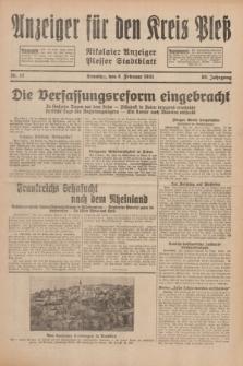 Anzeiger für den Kreis Pleß : Nikolaier Anzeiger : Plesser Stadtblatt. Jg.80, Nr. 17 (8 Februar 1931)