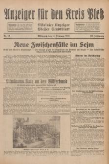 Anzeiger für den Kreis Pleß : Nikolaier Anzeiger : Plesser Stadtblatt. Jg.80, Nr. 18 (11 Februar 1931)