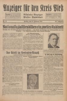 Anzeiger für den Kreis Pleß : Nikolaier Anzeiger : Plesser Stadtblatt. Jg.80, Nr. 19 (13 Februar 1931)