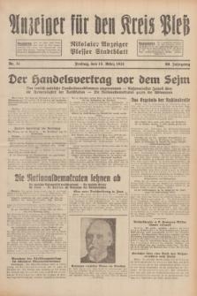 Anzeiger für den Kreis Pleß : Nikolaier Anzeiger : Plesser Stadtblatt. Jg.80, Nr. 31 (13 März 1931)