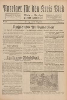 Anzeiger für den Kreis Pleß : Nikolaier Anzeiger : Plesser Stadtblatt. Jg.80, Nr. 32 (15 März 1931)