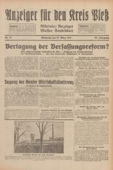 Anzeiger für den Kreis Pleß : Nikolaier Anzeiger : Plesser Stadtblatt. Jg.80, Nr. 33 (18 März 1931)