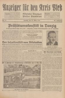 Anzeiger für den Kreis Pleß : Nikolaier Anzeiger : Plesser Stadtblatt. Jg.80, Nr. 34 (20 März 1931)