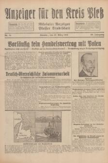 Anzeiger für den Kreis Pleß : Nikolaier Anzeiger : Plesser Stadtblatt. Jg.80, Nr. 35 (22 März 1931)