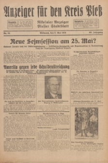 Anzeiger für den Kreis Pleß : Nikolaier Anzeiger : Plesser Stadtblatt. Jg.80, Nr. 54 (6 Mai 1931)