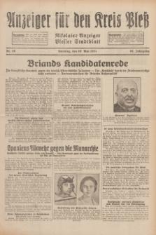 Anzeiger für den Kreis Pleß : Nikolaier Anzeiger : Plesser Stadtblatt. Jg.80, Nr. 56 (10 Mai 1931)