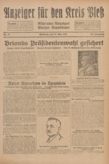 Anzeiger für den Kreis Pleß : Nikolaier Anzeiger : Plesser Stadtblatt. Jg.80, Nr. 57 (13 Mai 1931)