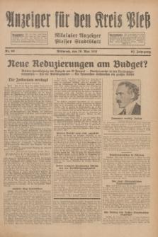 Anzeiger für den Kreis Pleß : Nikolaier Anzeiger : Plesser Stadtblatt. Jg.80, Nr. 60 (20 Mai 1931)