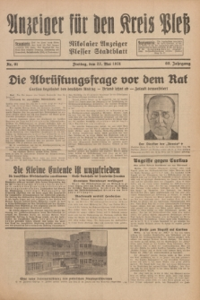 Anzeiger für den Kreis Pleß : Nikolaier Anzeiger : Plesser Stadtblatt. Jg.80, Nr. 61 (22 Mai 1931)