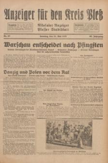 Anzeiger für den Kreis Pleß : Nikolaier Anzeiger : Plesser Stadtblatt. Jg.80, Nr. 62 (24 Mai 1931)