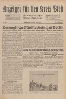 Anzeiger für den Kreis Pleß : Nikolaier Anzeiger : Plesser Stadtblatt. Jg.80, Nr. 90 (29 Juli 1931)