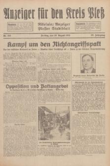 Anzeiger für den Kreis Pleß : Nikolaier Anzeiger : Plesser Stadtblatt. Jg.80, Nr. 103 (28 August 1931)