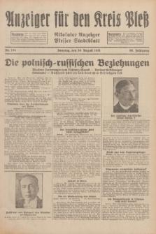 Anzeiger für den Kreis Pleß : Nikolaier Anzeiger : Plesser Stadtblatt. Jg.80, Nr. 104 (30 August 1931)