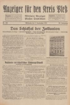 Anzeiger für den Kreis Pleß : Nikolaier Anzeiger : Plesser Stadtblatt. Jg.80, Nr. 105 (2 September 1931)