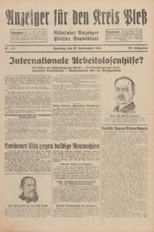 Anzeiger für den Kreis Pleß : Nikolaier Anzeiger : Plesser Stadtblatt. Jg.80, Nr. 113 (20 September 1931)