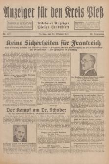 Anzeiger für den Kreis Pleß : Nikolaier Anzeiger : Plesser Stadtblatt. Jg.80, Nr. 127 (23 Oktober 1931)