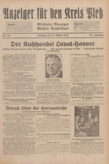 Anzeiger für den Kreis Pleß : Nikolaier Anzeiger : Plesser Stadtblatt. Jg.80, Nr. 128 (25 Oktober 1931)